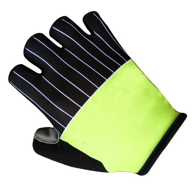 2020 pro equipe luvas de bicicleta gel acolchoado metade do dedo das mulheres dos homens verão esportes à prova choque anti deslizamento mtb ciclismo luvas 4