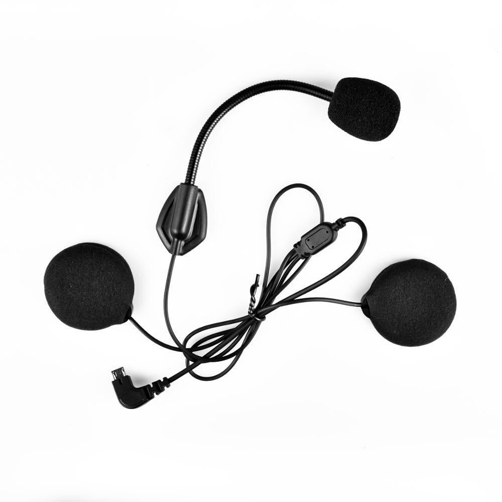 Fodsports Intercom kit Kopfhörer mit Mikrofon Für FX6 Motorrad Helm Intercom Bluetooth Headset