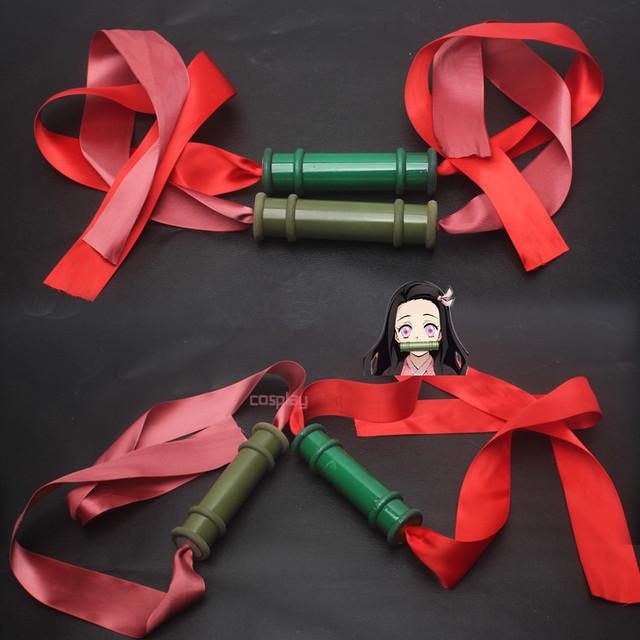 Demon Slayer Action Figures Tanjirou Nezuko Cosplay Sealing Stick Kimetsu no Yaiba Anime Figurine Model Toys