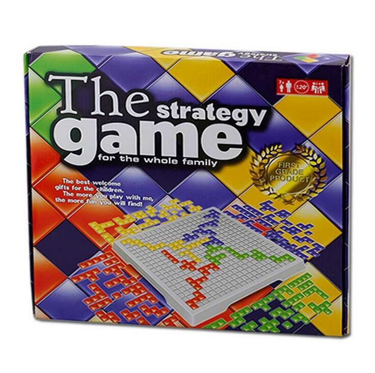 Blokus Board Game Strategy Games Squares English Version 4 Players Set Family Games