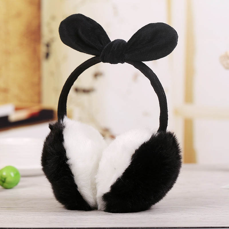 Ladies Girls Earmuffs Cute Bowknot Furry Ear Muffs Comfy Soft Outdoor Winter FEA889