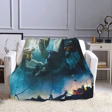 Stylish Godzilla Air Conditioning Blanket, Luxury Blanket for Bedding, Super Soft and Warm, plush Fluffy 50