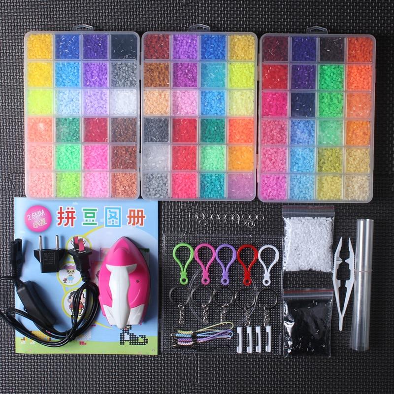 72 Colors 2.6mm Hama Beads Set 3D Puzzles Toys Perler Beads for Children Tool Accessories Tools Pegboards Perlas de cuentas
