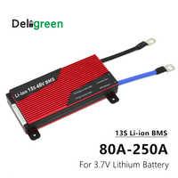 3,7 V BMS 13S 80A 100A 120A 150A 200A 250A PCM/PCB/BMS для 54,6 V 48V литий-ионный аккумулятор 18650 для электрического велосипеда/UPS
