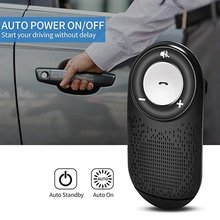 цена на T828 Handfree Bluetooth Car Kit MP3 Player Bluetooth 4.1 Sun Visor Clip Speakerphone Car Bluetooth Kit Wireless Speakerphone