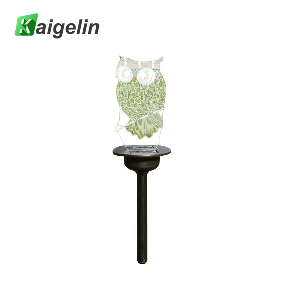 Mini Owl Shaped 3D Acrylic LED Solar Lawn Light IP65 Waterproof Outdoor In-Ground Decorative Night Light for Garden Courtyard image