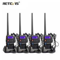 vhf uhf 2X5W DTMF מכשיר הקשר Retevis RT-5R Portable Ham Radio 128CH UHF / VHF רדיו שני הדרך רדיו Hf Trasceiver 1800mAh סוללה EEShip (1)