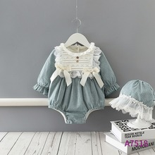 Crawling Baby Romper One-Piece Winter Suit Clothing Fleece-Lined Children's Warm