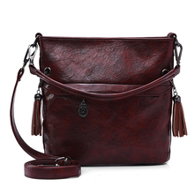 Soft Retro Tote Oil Leather Bucket Sac Luxury Handbags Women Bags Designer Ladies Shoulder Crossbody Hand Bags for Women 2020