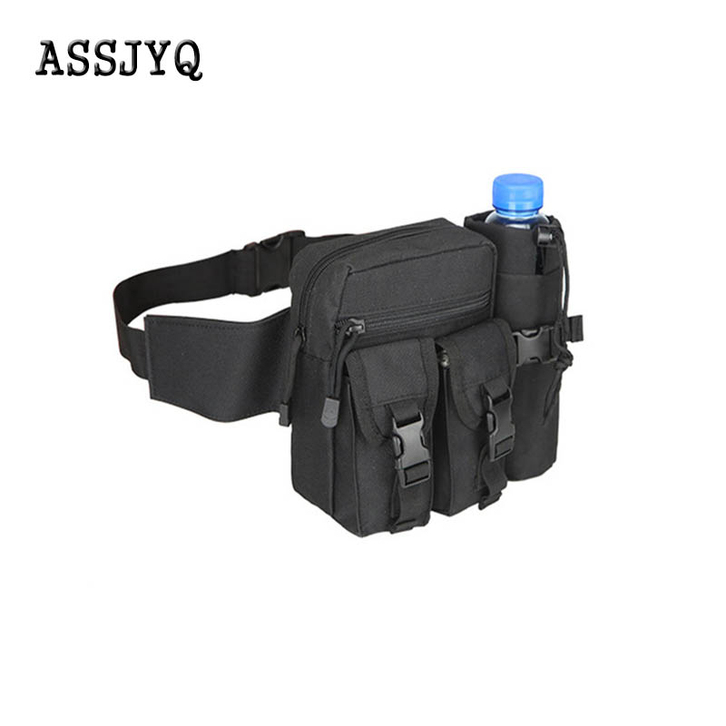 Waist Backpack For Men, Casual, Durable, With Waist, Waist Bags, Canvas, Hip Bag, Military Bag, Multifunction Zippered Purse