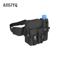 цена на Waist backpack for men, Casual, durable, with waist, waist bags, canvas, hip bag, military bag, Multifunction zippered purse