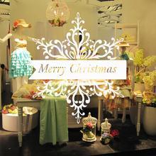 Merry Christmas Snowflake Xmas Decals Door Window Wall Sticker Home Shop Decor