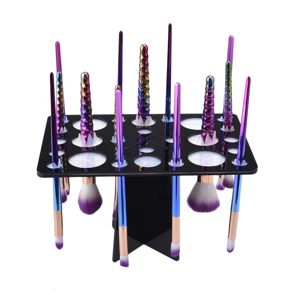 2019 New Makeup Brush Holder Air Drying Rack Organizer Shelf Make Up Tree Brushes Organizer Cosmetic Brush Dryer Stand Storage