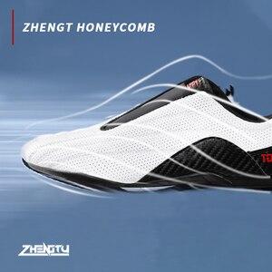 Image 2 - ZTTY baskets de boxe pour hommes, chaussures de Taekwondo, souples et respirantes, de formation, de Taichi, de karaté, darts martiaux et de lutte