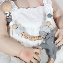 Персонализированные имени ручной работы силиконовые соски цепи безопасное прорезывание зубов цепь ребенка прорезыватель Эко-дружественн...