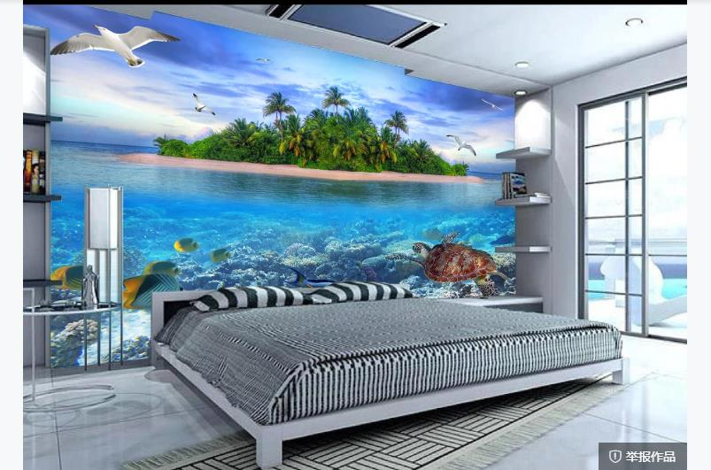 Blue Sky White Clouds Backdrop Murals Photo Wallpaper For Living Room Wall Decor Custom Printing Wallpapers