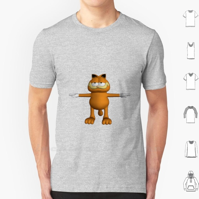Garfield T Pose Tank Top Cotton Vest Sleeveless Men Women Garfield T Pose Funny Meme Surreal Goof Gaff Jest Tank Tops Aliexpress