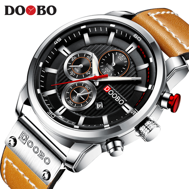DOOBO Luxury Brand Men Analog Leather Sports Watches Mens Army Military Watch Male Date Quartz Clock Relogio Masculino D042