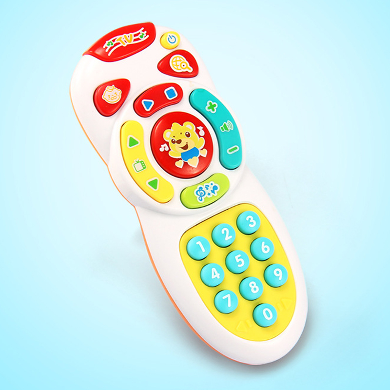 2019 New Baby Simulation TV Remote Control Mobile Phone Toy Kids Educational Music Learning Toy