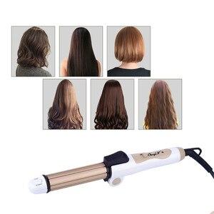 Image 4 - CkeyiN bigoudis pour cheveux, 3 en 1, en céramique, Mini fer à friser, fer plat, plaque de maïs, chauffage rapide