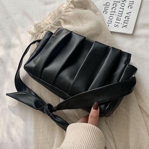 Image 2 - 2020 Fold Cloud Totes Bags for Women Underarm Bag PU Leather Womens Handbags Evening Clutch Purses Lady Dumplings Handbags New