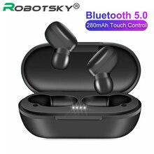 Auriculares TWS A6X, inalámbricos por Bluetooth V5.0, auriculares estéreo táctiles HD con cancelación de ruido para iOS y Android PK A6S E6S