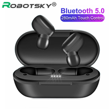 New A6X TWS Wireless Earphones Bluetooth V5.0 Stereo Headphones Touch HD Noise Cancelling Headset for iOS&Android PK A6S E6S