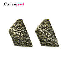 Carvejewl big stud earrings irregular rectangle for women jewelry  girl gift simple personality hot sale bohemia