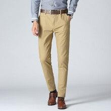 2019 Four Seasons Pants Mens Cotton Large Size Casual Working  Suit Slim Business Trousers