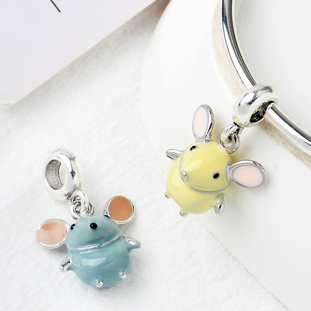 2Pcs/Lot Cute 2020 New Mouse Pendant Charms Fit Brand Bracelets & Necklaces For Women DIY Making Fashion Jewelry Accessories