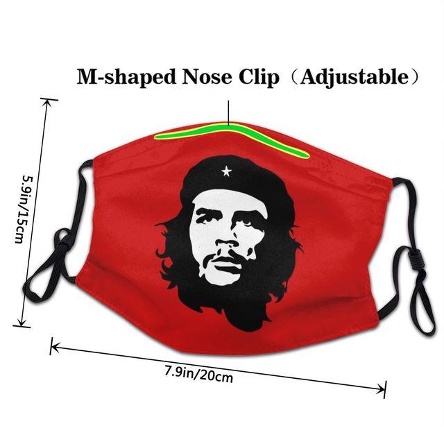 Неодноразовая маска для лица Che Guevara, кубинская революционная маска для защиты лица от пыли и пыли, антидымчатый респиратор 3