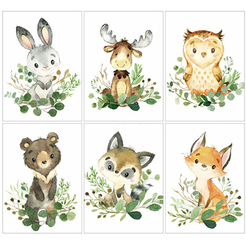 HUACAN Diamond Painting 5d Fox Rabbit Home Decoration Mosaic Cartoon Animal Embroidery Handmade Art - discount item  30% OFF Arts,Crafts & Sewing