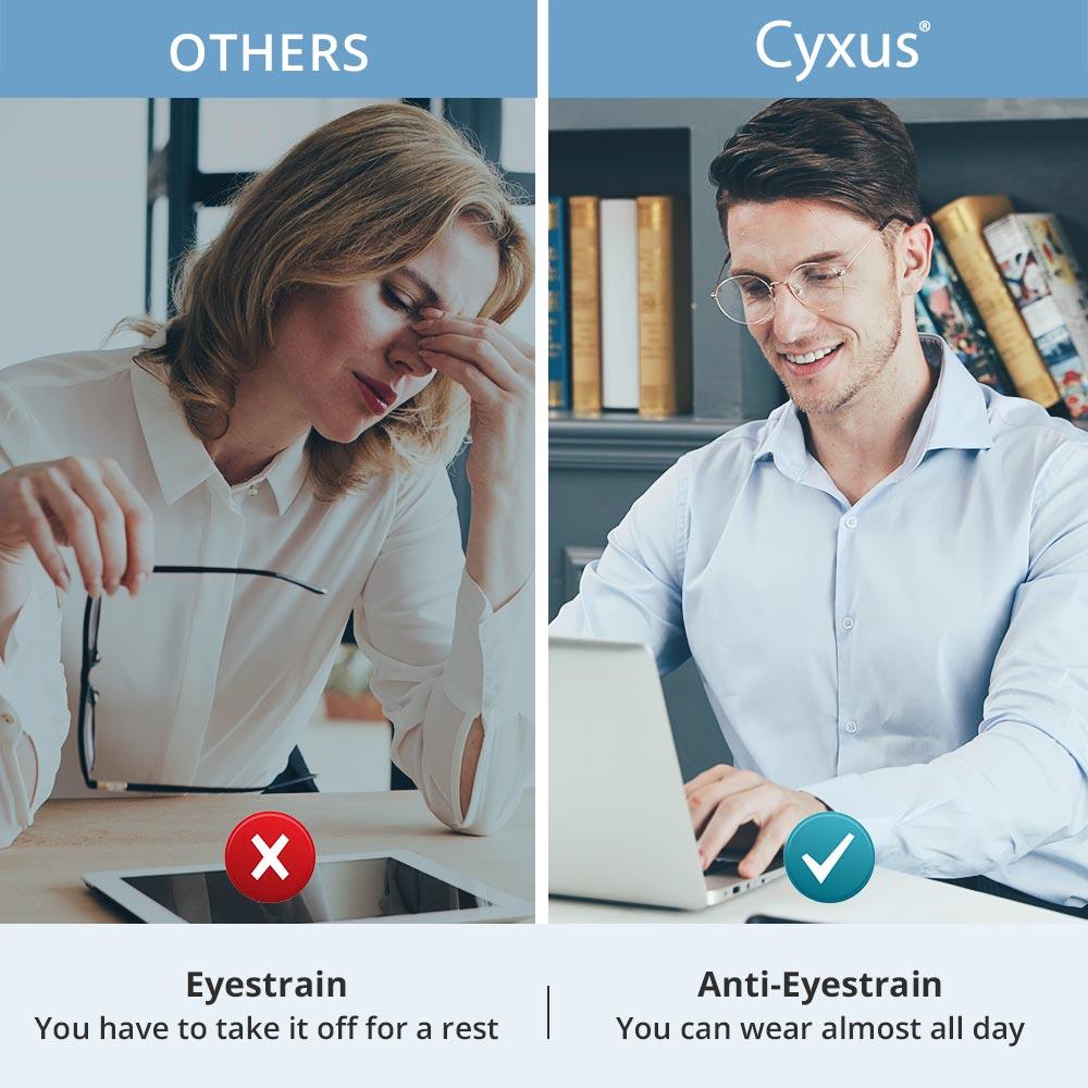 Image 2 - Cyxus Blue Light Blocking Computer Glasses Anti Eye Strain UV Protection Korean Round Metal Frame Gaming Men/Women Eyewear 8090Womens Blue Light Blocking Glasses   -