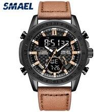 SMAEL mode hommes montre affaires Quartz montres étanche 3Bar bracelet en cuir décontracté Sport montres Relogio Masculino 1407