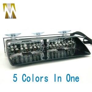 16W 5 kolorów W 1 szybie światło stroboskopowe led Viper sygnał błyskowy samochodu awaryjne strażak policyjne światła ostrzegawcze światło czerwony niebieski bursztynowy biały