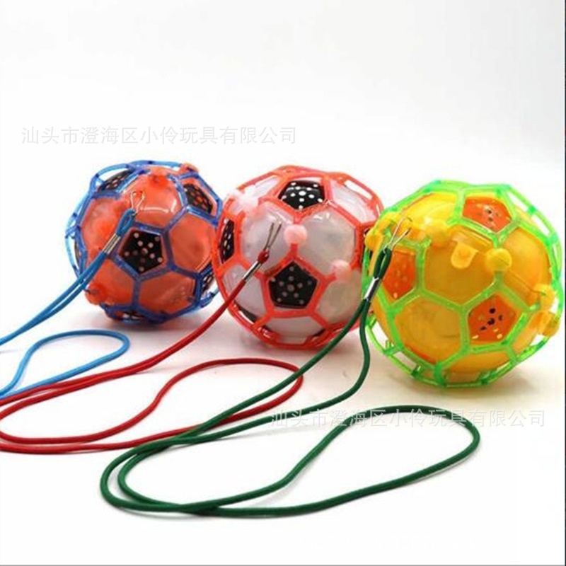 Football Dancing Flash Jumping Football Shining Colorful Music Beng Qiu Children Creative Football Toy