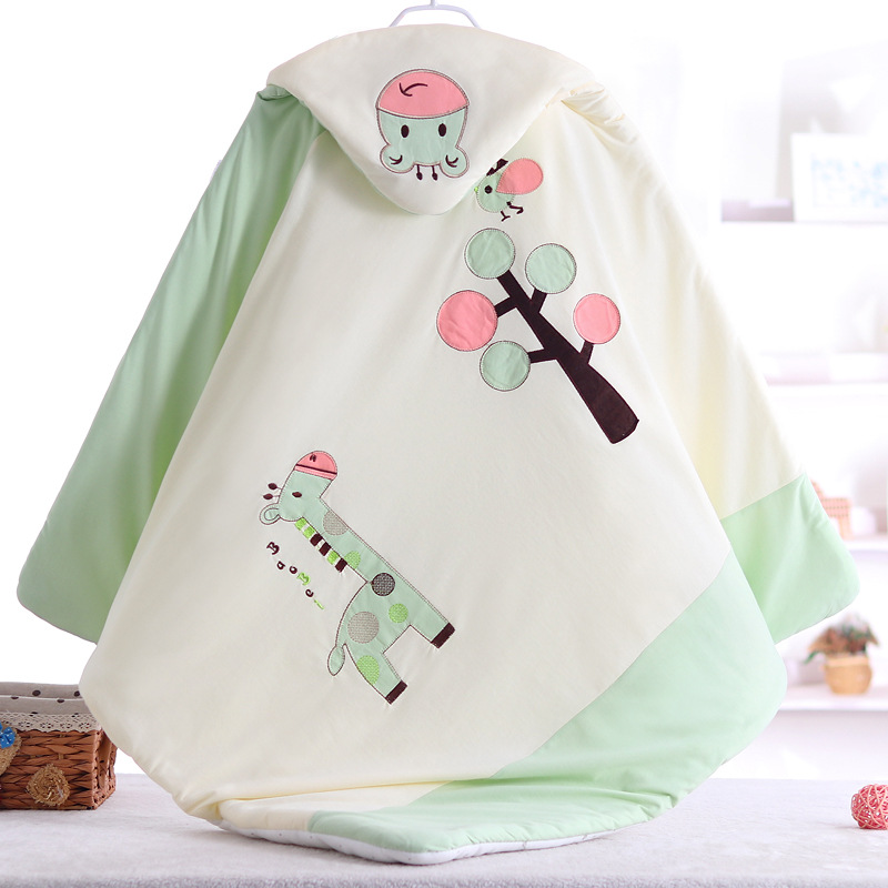Soft Baby Blankets Newborns 100% Cotton Baby Blanket  Baby Swaddle Wrap  Newborn Cartoon Embroidered Blanket