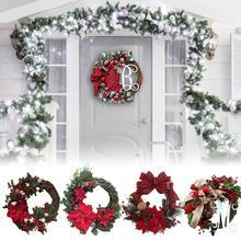 Предметы домашнего обихода, Рождественский венок, искусственный венок, висячие двери, вечерние украшения, принадлежности для Рождественского украшения дома