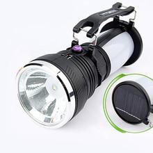 цена на Led Lanterns Light Solar Power Rechargeable Battery Camping Tent Light Lantern Camping Lamp Portable LED Flashlight