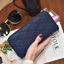 women wallets Womens wallet PU leather long ladies zip compartment  womens and purses