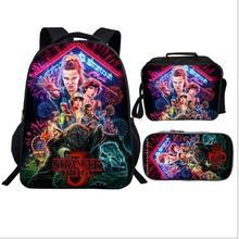 Mochila stranger things Backpack for Boys Girls School Bags