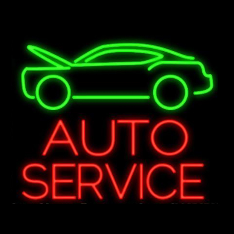 Auto Service Car Neon Sign Custom Handmade Real Glass Tube Repair Washing Company Station Store Decoration Display Signs 24X20 image