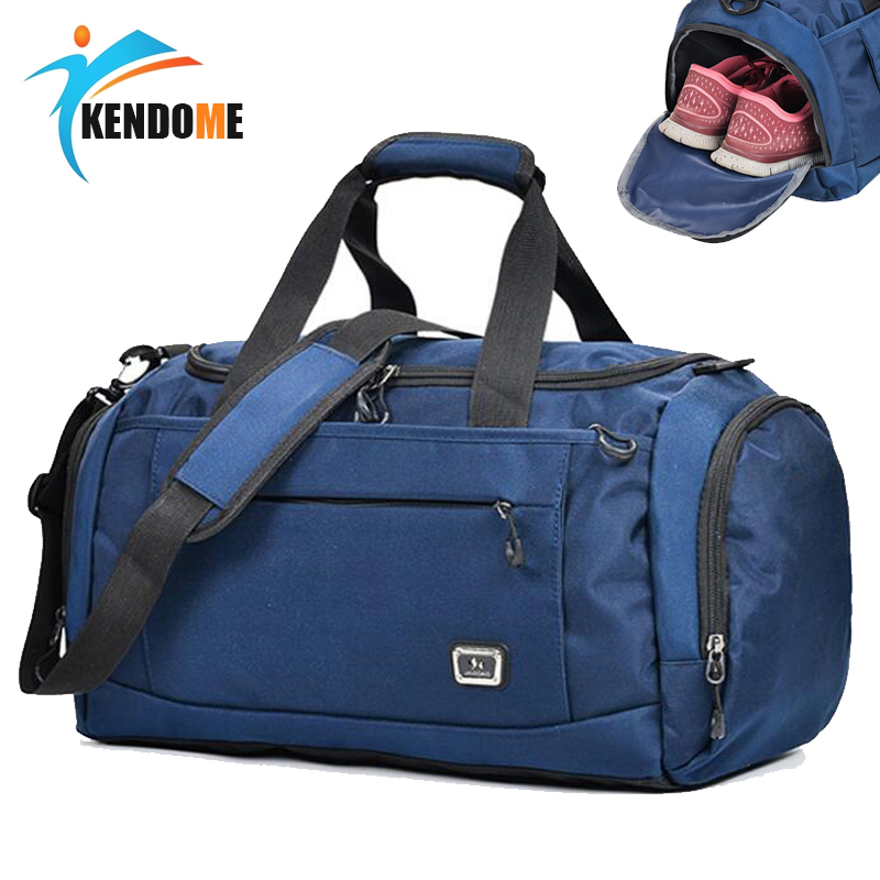 Hot Outdoor Professional Large Sports Bag Gym Bag Men Women Independent Shoes Storage Training Bag Portable Shoulder Fitness Bag