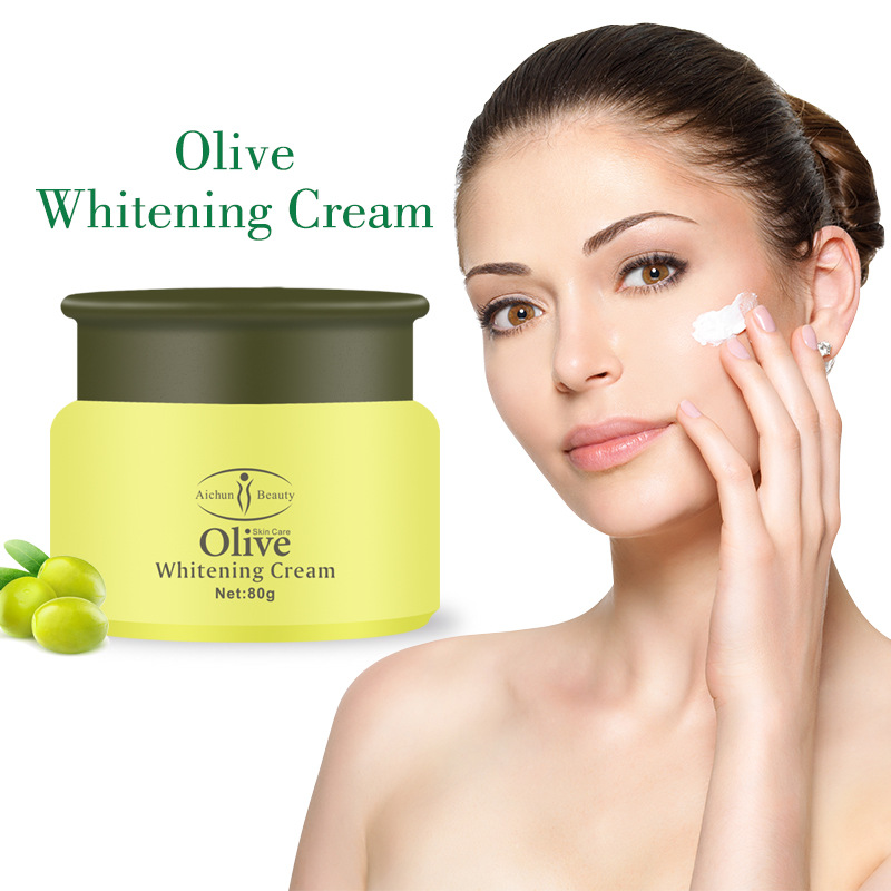 Plant Nourishing Anti-drying Moisturizing Firming Facial Repair Olive Whitening Cream Daily Care Face 80g TSLM1