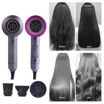 3 en 1 secador de pelo estilizador de gran potencia para reparar el cabello Volumizing Ion soplador de aire Temperatura constante ventilador de secado rápido de cabello