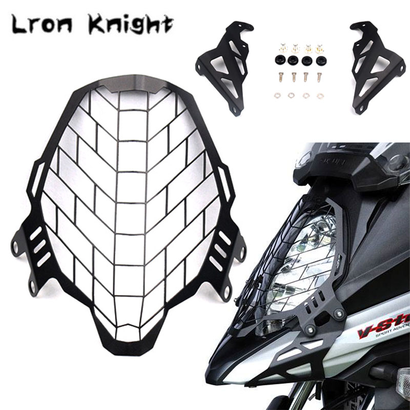 For SUZUKI DL650 <font><b>DL1000</b></font> V-strom DL 650 1000 <font><b>Vstrom</b></font> 650 2017-2019 Motorcycle Headlight Protector Grille Guard Cover Motor Parts image