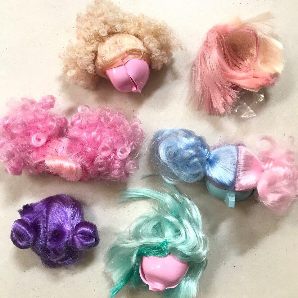 Véritable nouvelle perruque de poupée Lol Surprises Originales poupées quatre générations cheveux accessoires fille cadeau d'anniversaire