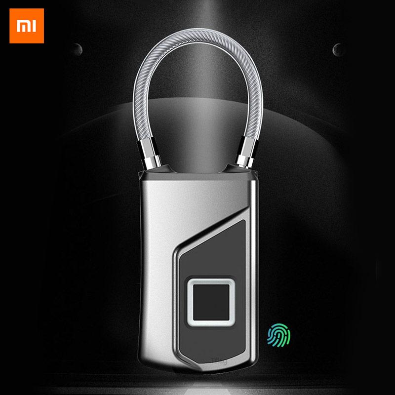 Xiaomi Youpin Fingerprint Padlock Luggage Portable Multi-purpose Bag Cabinet Waterproof Semiconductor Biometric Identification