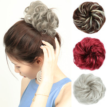New Arrival Women Tiara Satin  Hair Curler Wig Puff Bud Elastic Hairbands Ties Stylish Scrunchies Accessories