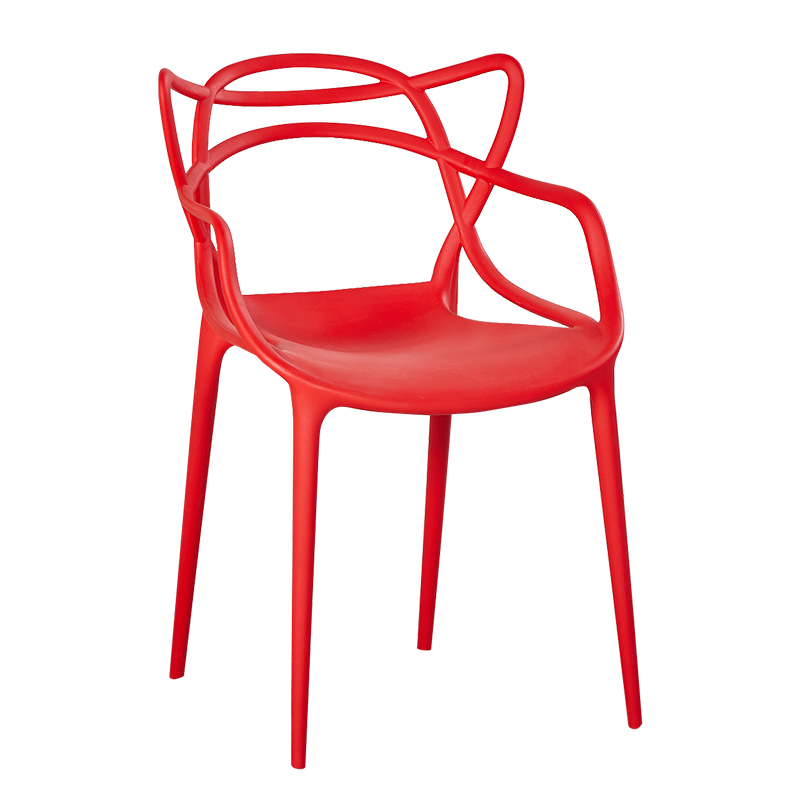 Cat Ear Chair Modern Simple Leisure Chair Outdoor Plastic Chair Rattan Chair Thick Dining Chair Hollow Back Coffee Chair